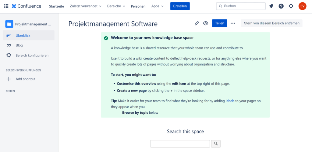 Confluence als Knowledge Base von Atlassian