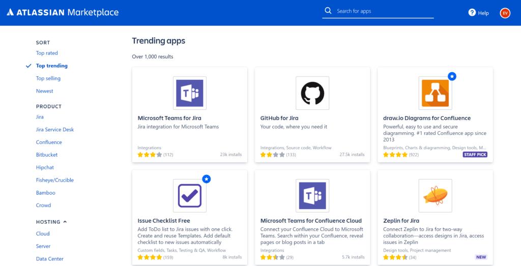 Der Atlassian Marketplace
