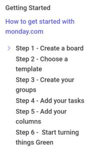 Getting Startet mit monday.com