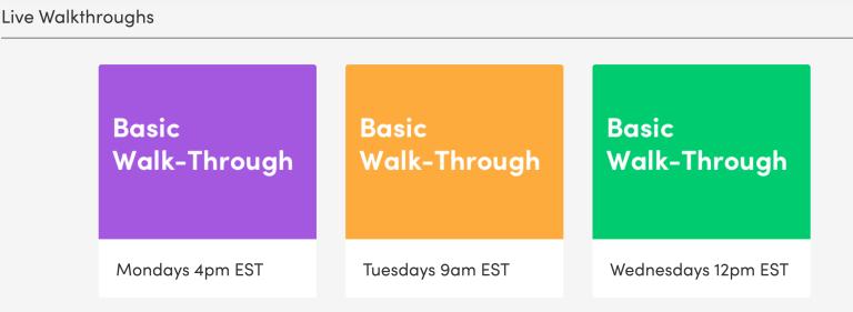 Monday.com Tutorials umfassen auch Live Webinare